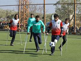 War amputee footballers tackle, shoot, score in rebel-held Syria