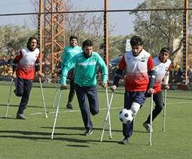 War amputee footballers tackle, shoot, score in rebel-held Syria