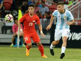 Paulo Dybala was part of the Argentina side that brushed aside minnows Singapore. AFP