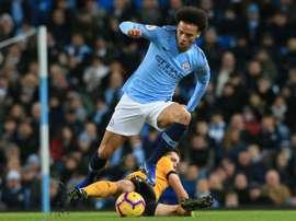 Danilo, Sterling e Sané, três gols e três pontos. AFP