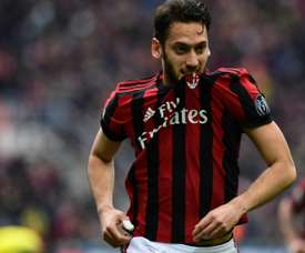 Calhanoglu got the only goal of the game. AFP