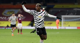 Paul Pogba scored the only goal of the game as Man Utd won at Burnley. AFP