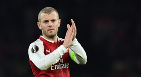 Wilshere was eventually persuaded to make the jump by Emery. AFP
