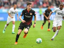 Kai Havertz pictured against Frankfurt. AFP
