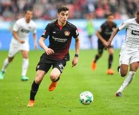 Havetz's goal ended Leverkusen's losing streak. AFP