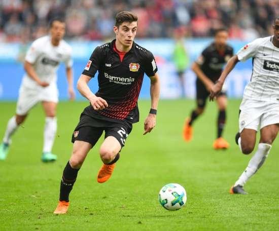 Kai Havertz est une des promesses allemandes de Bundesliga. AFP