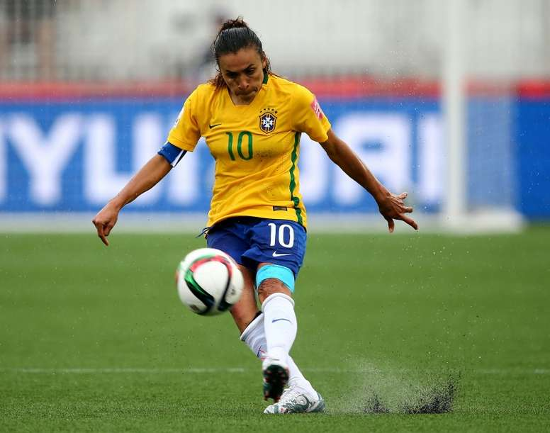 Marta will captain the Brazilian team at the Women's World Cup this summer. AFP