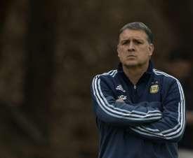 Martino no piensa ponerse al frente de la 'Albiceleste' de nuevo. AFP