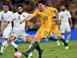 Tom Rogic scored a magnificant goal against Saudi Arabia. AFP
