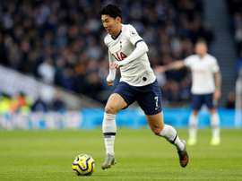 Spurs star Son feels the pain after United defeat. AFP