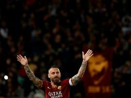 Daniele De Rossi is a hero to Roma fans having spent 18 years playing for his hometown club. AFP