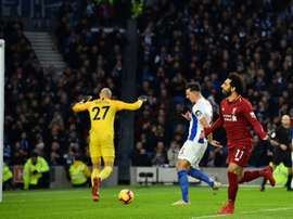 Salah sealed the win with a penalty. AFP