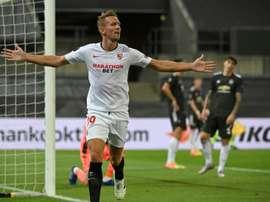 Sevilla beat United 2-1. AFP