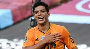 Raul Jimenez suffered a horrific head injury. AFP