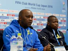 Pitso Mosimane rebuffed claims that his players were actively time-wasting. AFP