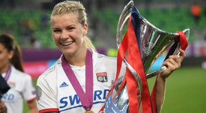 Lyon women's star Hegerberg out for months with knee ligament injury. AFP