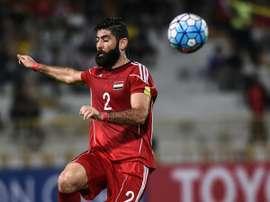 Ahmad Al-Saleh ha sido el capitán de Siria en gran parte de la carrera hacia Rusia 2018. AFP/Archivo