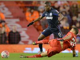 Liverpool's defender Kevin Stewart (below) during a match against West Ham United. BeSoccer