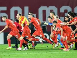 North Macedonia have qualified for Euro 2020 thanks to Goran Pandev's goal. AFP
