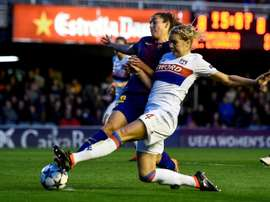 Barcelona women are set to play all of their games in America next season. AFP