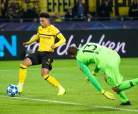 Sancho está destacando en el Borussia Dortmund. AFP