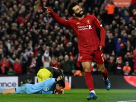 Mohamed Salah scored two goals in Liverpool's win over Southampton. AFP
