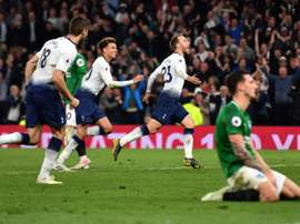 Tottenham managed a win in the 88th minute. AFP