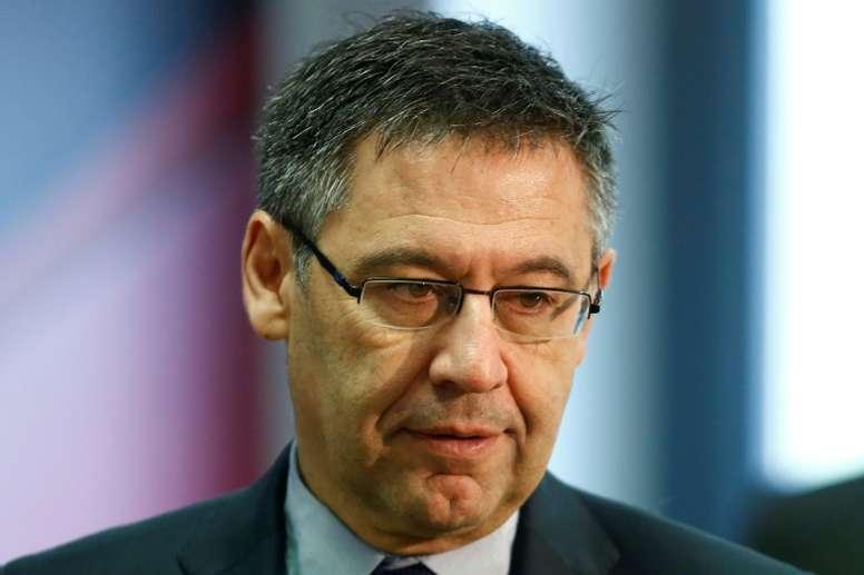 Bartomeu has backed Ernesto Valverde. AFP