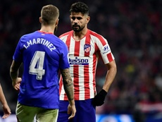 Atletico Madrid's Diego Costa underwent surgery on his cervical disc on Thursday. AFP