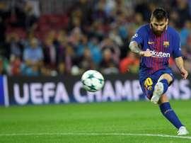 Messi voltou a fazer toda a diferença a favor do Barcelona. AFP