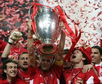 Steven Gerrard led Liverpool to an unexpected 5th European crown in 2005. AFP