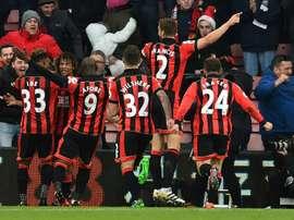 El Bournemouth remontó de manera increíble al Liverpool. AFP