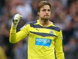 Krul looks set to leave Newcastle. AFP