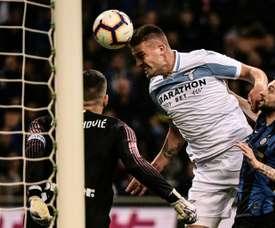 La Lazio dispute un match en retard. AFP