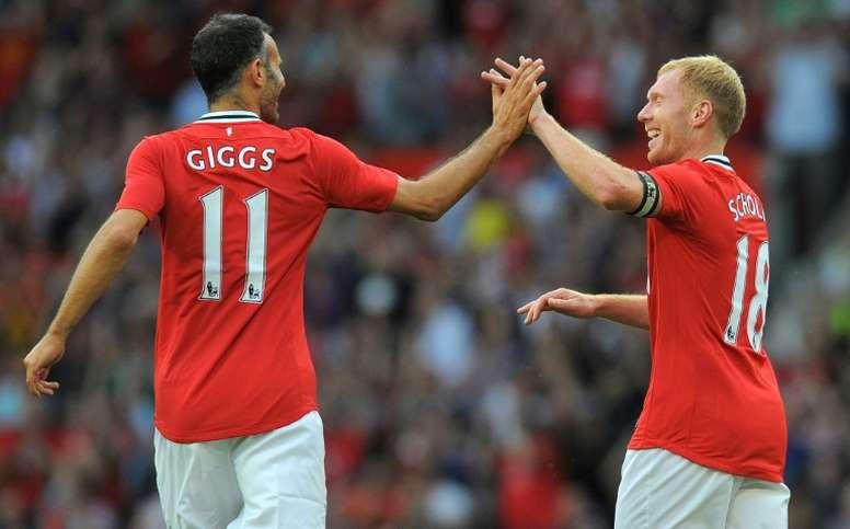 Giggs habló del equipo en el que se convirtió en leyenda. AFP
