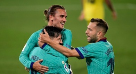 O Barcelona teve golaços e atuação destacada de Antoine Griezmann contra o Villarreal. AFP