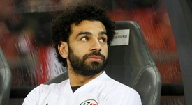 Salah was rested as Egypt lost to Greece. AFP