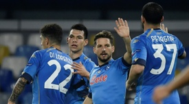 Napoli got a last minute winner at Udinese on Sunday. AFP