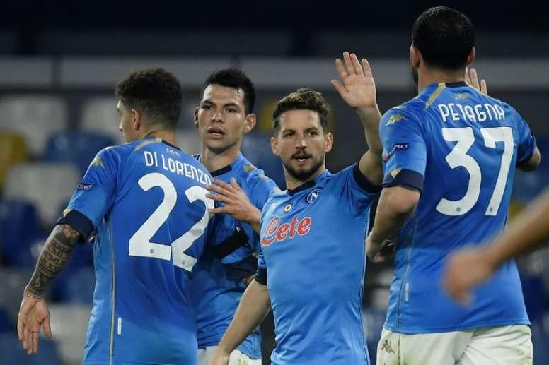El Nápoles-Empoli estuvo en riesgo por el COVID-19. AFP