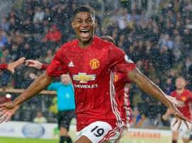 Manchester Uniteds English striker Marcus Rashford will turn 19 at the end of October. AFP