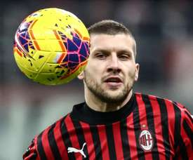 Ante Rebic scored for Milan in the win over Roma. AFP