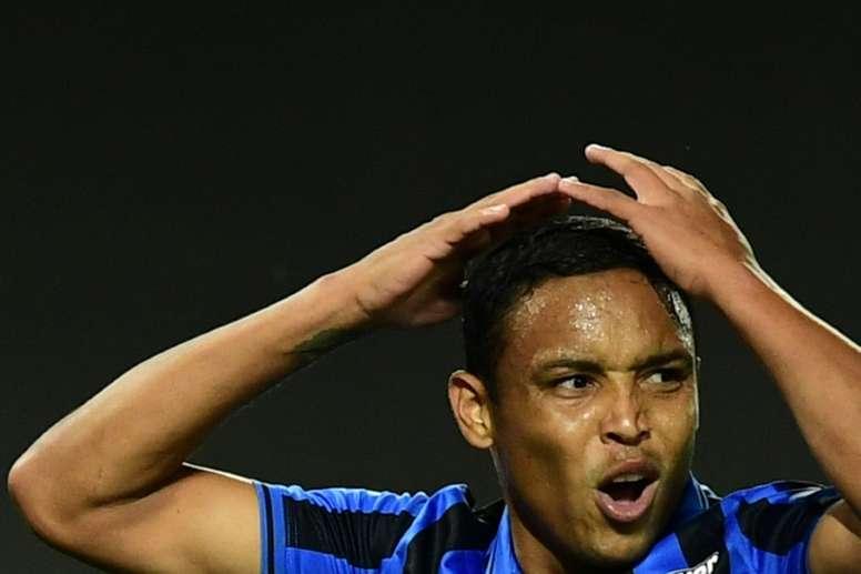 Atalanta striker Muriel out of hospital after head injury at home. AFP