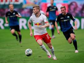Werner will play no more for Leipzig in the Champions League. AFP