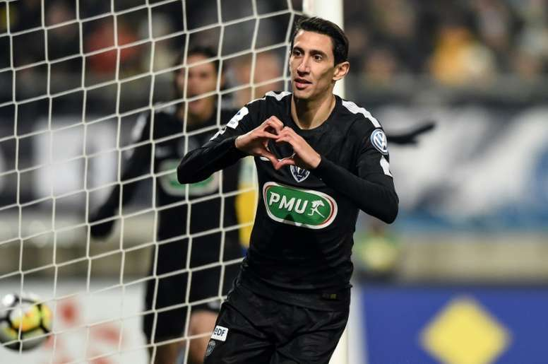 Di Maria fuels PSG as Marseille hit nine in French Cup. AFP