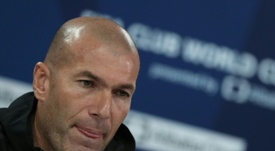 Zidane will not be asking Real Madrid to buy a striker in January. AFP