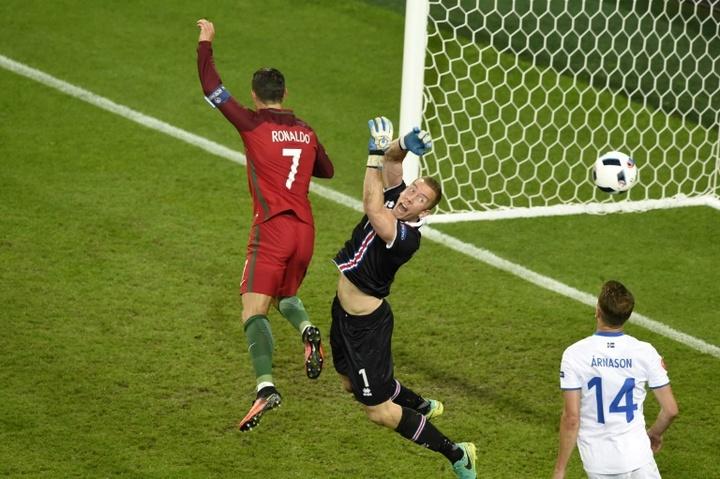 Halldórsson ha jugado ante los más grandes. AFP