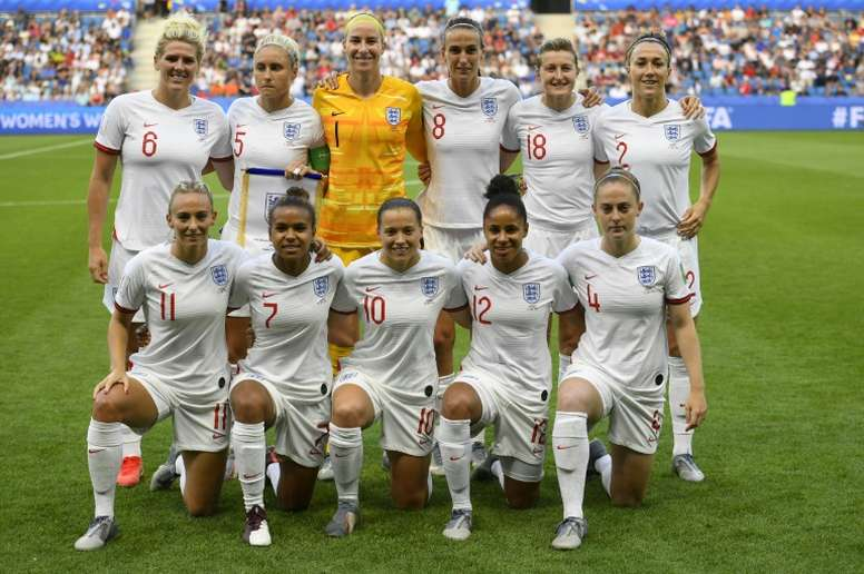 England's players qualified for the 2020 Tokyo Olympics after France lost. AFP