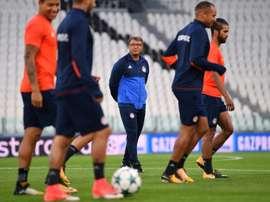 Lemonis habló sobre el partido ante el Barcelona de Champions League. AFP