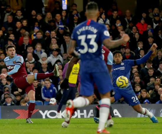 West Ham claimed a huge victory over Chelsea to take the pressure off Pellegrini. AFP