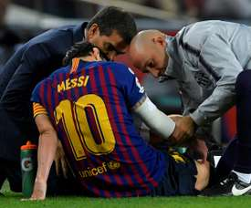 Martín Montoya does not think Barça will resent Messi's absence. AFP